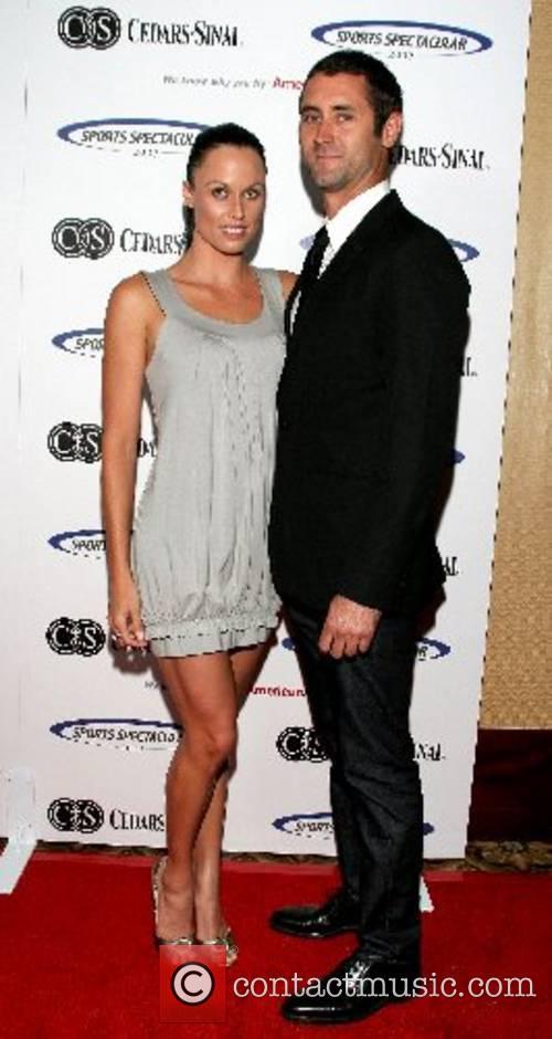 Amanda Beard and Guest Cedars-Sinai Medical Center's 22nd...