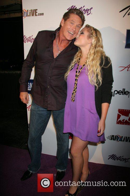 David Hasselhoff and daughter Hayley Hasselhoff Celebrity Catwalk...