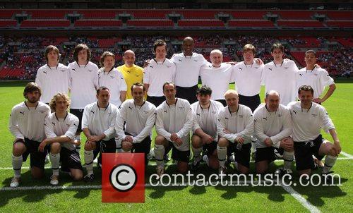 England v Scotland celebrity football match held at...