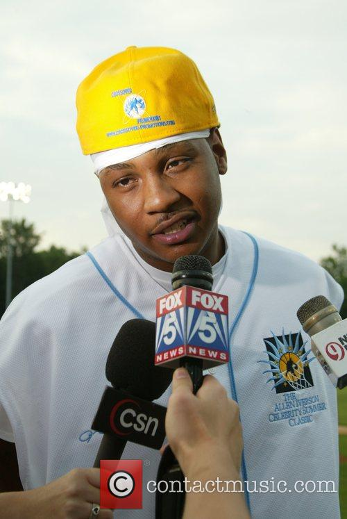 Carmelo Anthony 2007 Allen Iverson celebrity softball game...