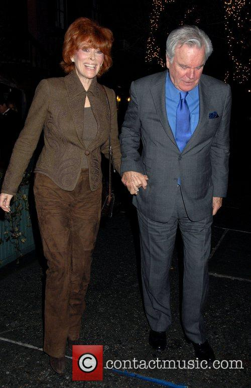 Jill St. John and Robert Wagner Celebrities outside...