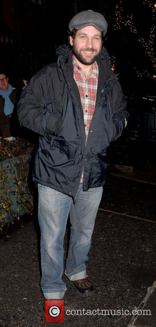 Paul Rudd Celebrities outside the Waverly Inn in...