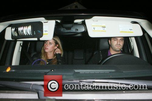 Nicky Hilton and David Katzenberg leaving the Foxtail...