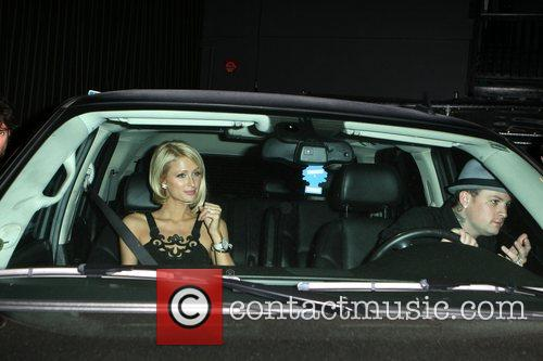 Paris Hilton and Benji Madden leaving the Foxtail...