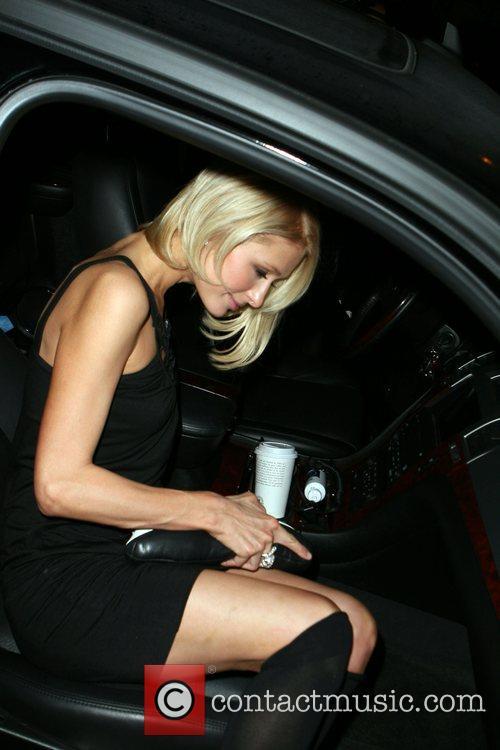 Paris Hilton leaving the Foxtail nightclub. West Hollywood,...