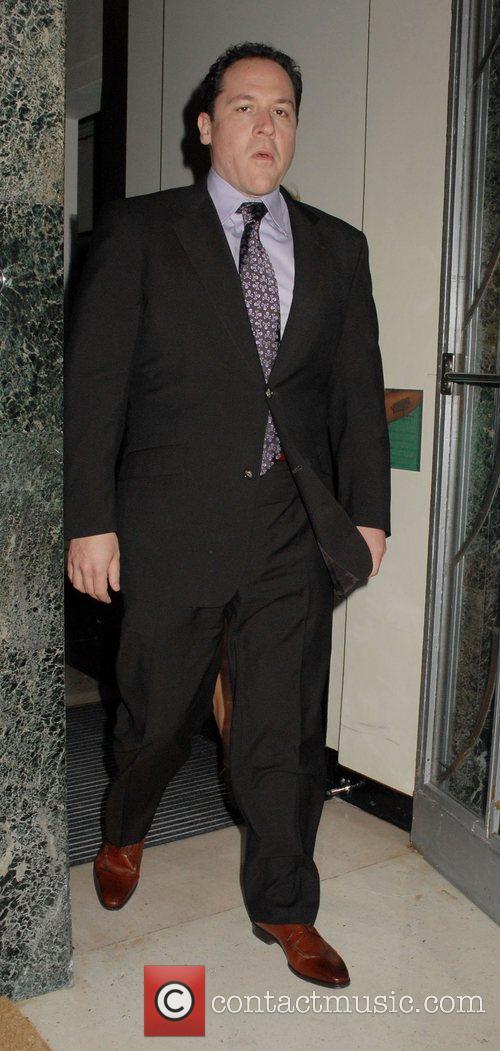 Jon Favreau leaving his hotel to attend the...