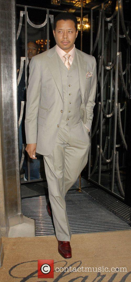 Leaving his hotel to attend the UK film...