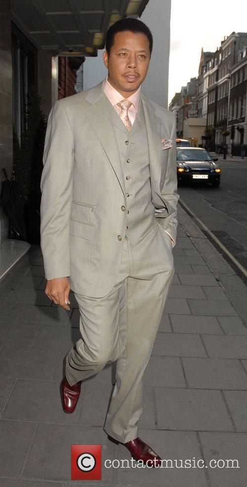 Terrence Howard leaving his hotel to attend the...