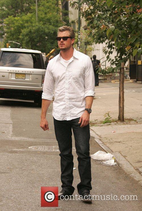 Eric Danes walking through SoHo New York City,...