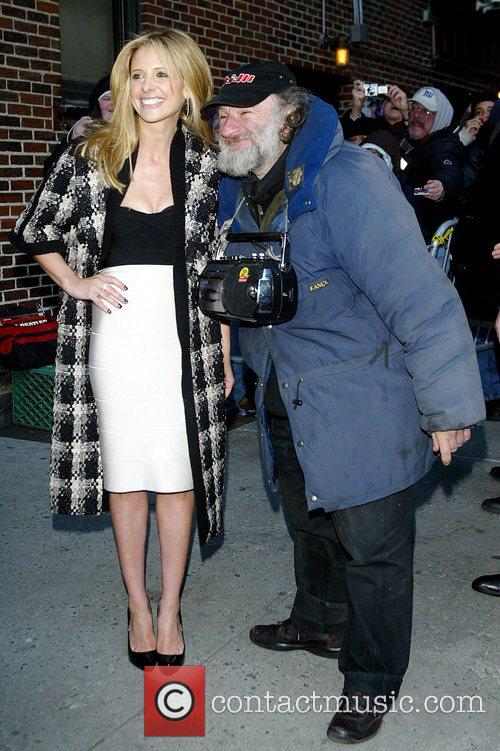 Sarah Michelle Gellar and David Letterman 1