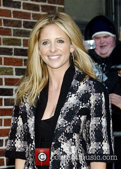 Sarah Michelle Gellar and David Letterman 38