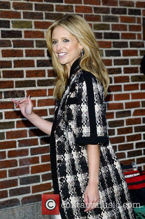 Sarah Michelle Gellar and David Letterman 37