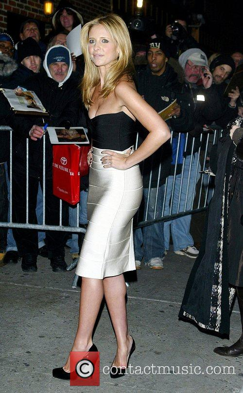 Sarah Michelle Gellar and David Letterman 32