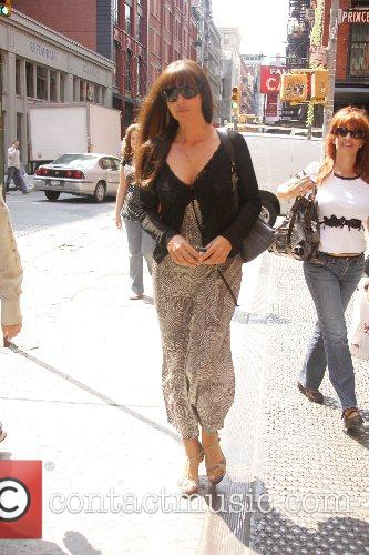 Actress Monica Bellucci out and about in SoHo