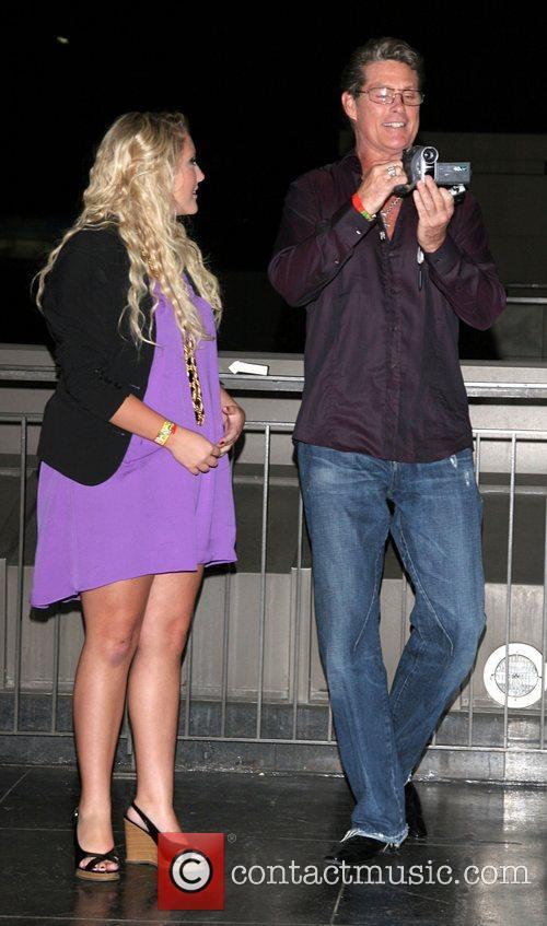 Hayley Hasselhoff and David Hasselhoff Celebrity Catwalk for...