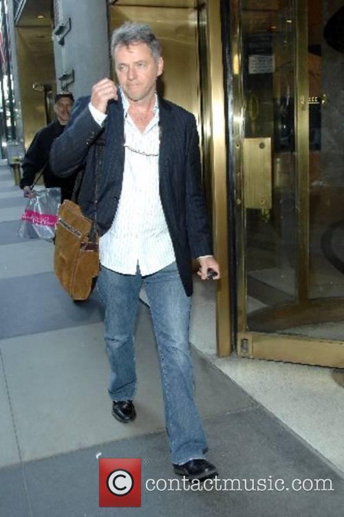 Aidan Quinn outside the CW11 Morning Show studios...