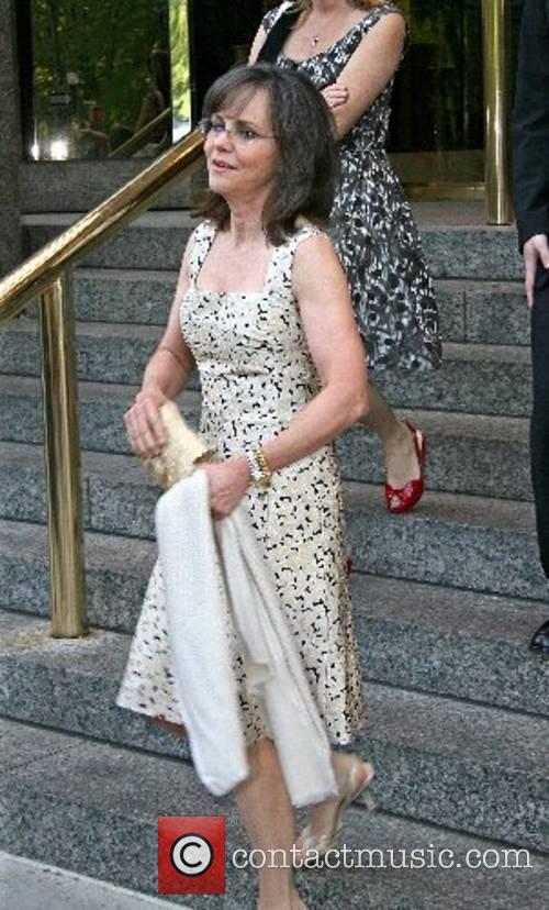 Sally Field leaving her hotel in Manhatten New...