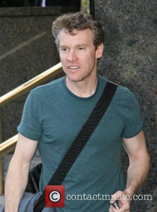 Tate Donavan leaving his hotel in Manhatten New...