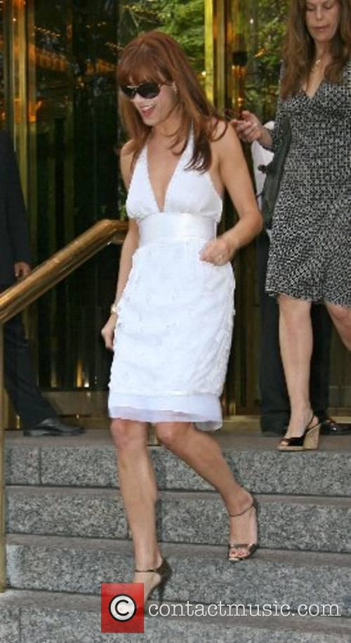 Kate Walsh leaving her hotel in Manhatten New...