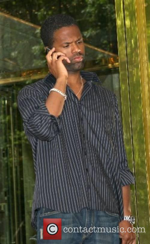 Larenz Tate leaving his hotel in Manhatten New...