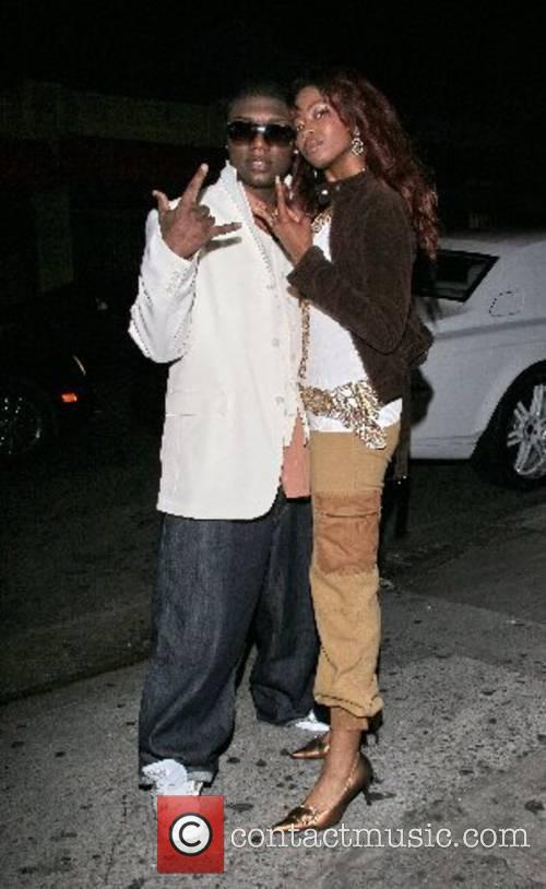 Keyi and Silky Outside a club in Hollywood...
