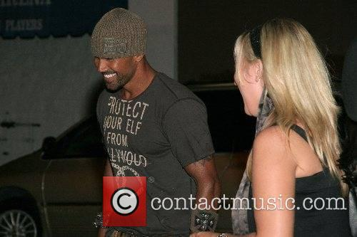 Shemar Moore  Outside a club in Hollywood...