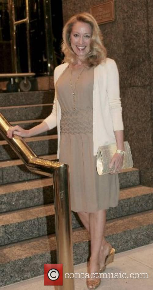Leaving her hotel in Manhattan