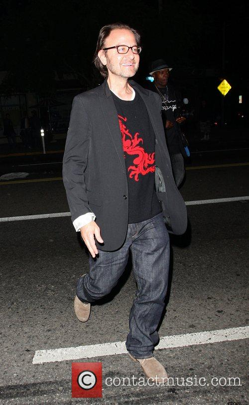 Fisher Stevens leaving the Crown club Hollywood, California