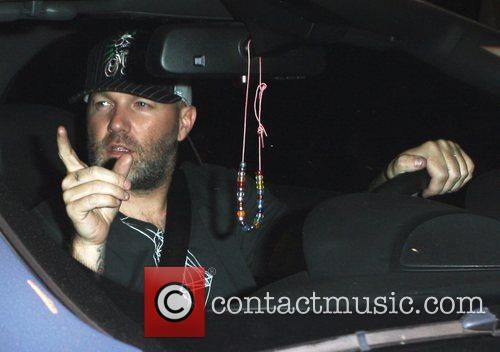 Fred Durst leaving the Crown club Hollywood, California