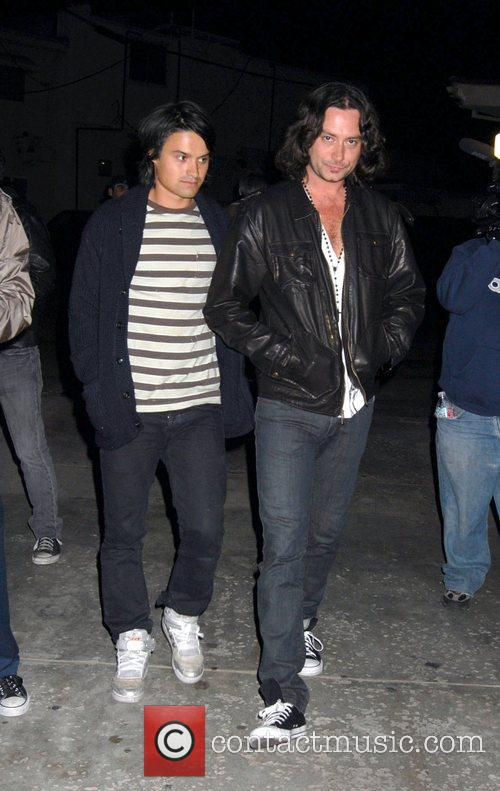Constantine from American Idol (R) arriving at Foxtail...