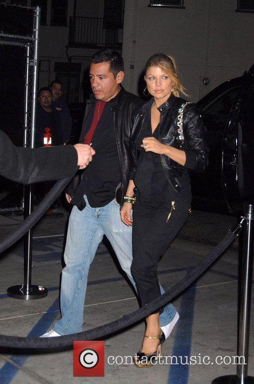 Fergie aka Stacy Fergusson arriving at Foxtail restaurant...