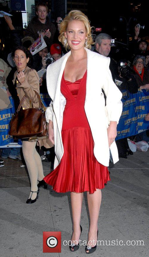 Katherine Heigl and David Letterman 2