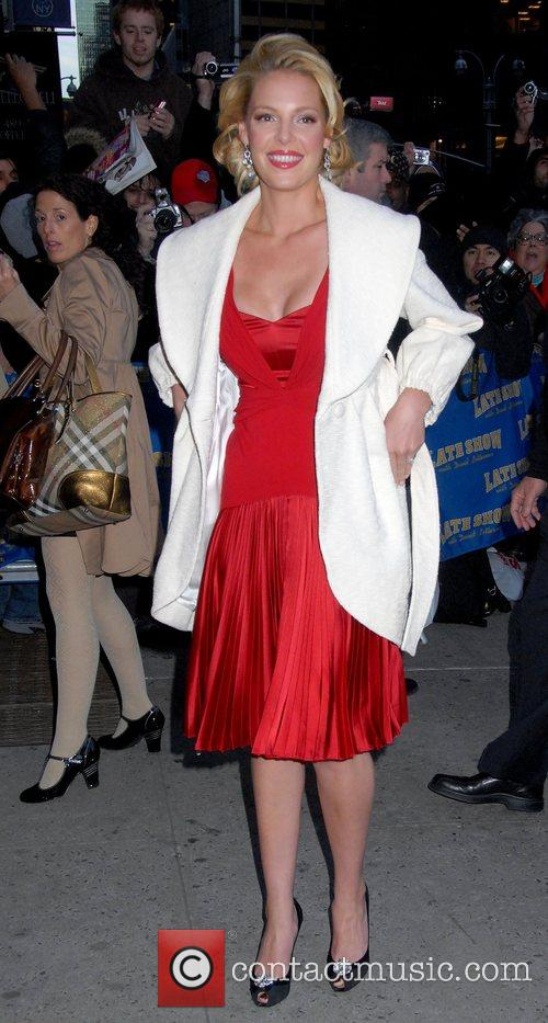 Katherine Heigl and David Letterman 5