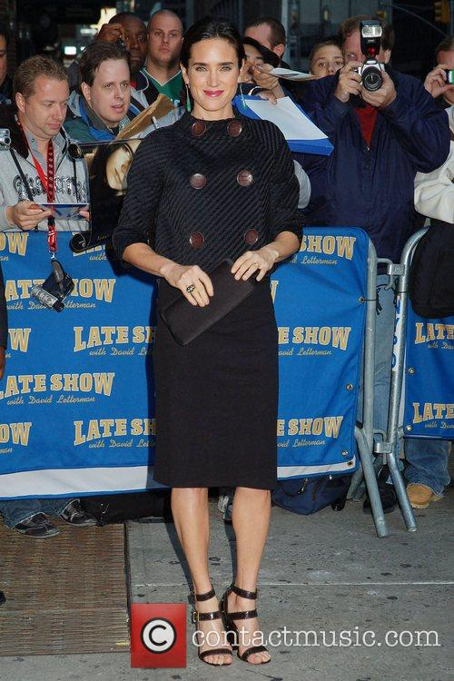 Jennifer Connelly and David Letterman 4