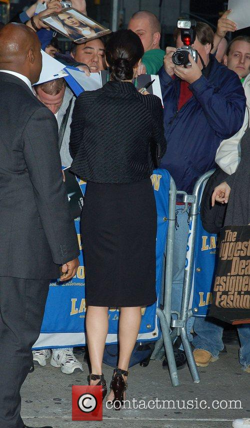 Jennifer Connelly and David Letterman 6