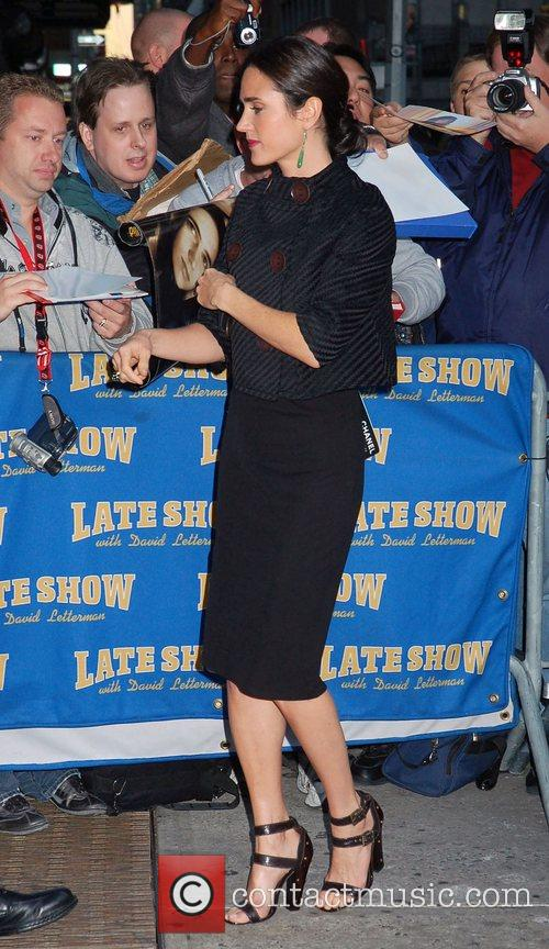 Jennifer Connelly and David Letterman 13
