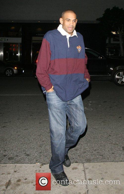 Grant Hill leaving Mr Chow restaurant Beverly Hills,...