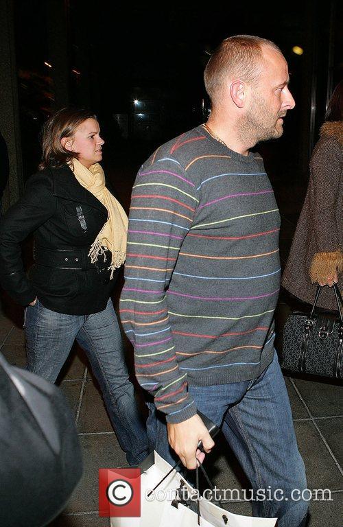 Kerry Katona and husband Mark Croft outside RTE...
