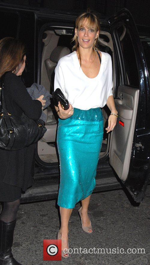 Molly Simms arriving at her hotel New York...