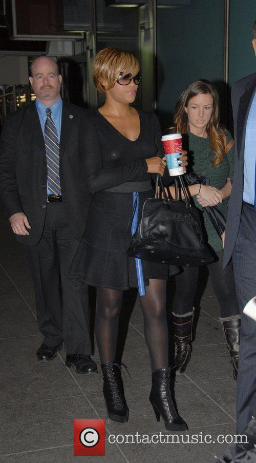 Eve leaving the Fox Television Studios after appearing...