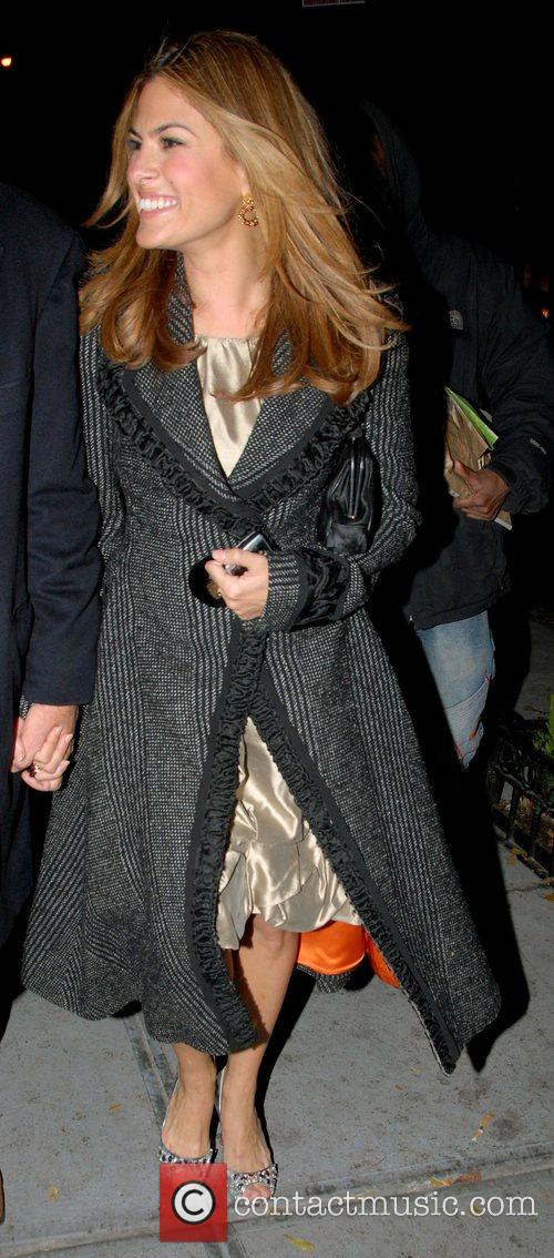 Eva Mendes leaving her hotel in midtown Manhattan...