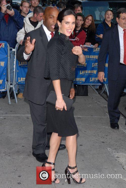 Jennifer Connelly and David Letterman 20