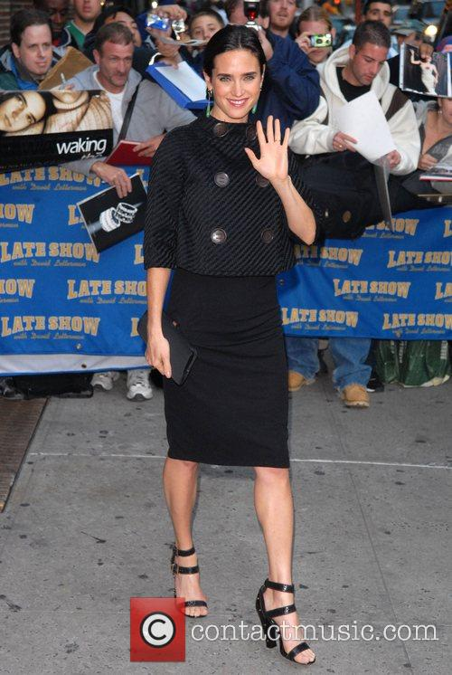 Jennifer Connelly and David Letterman 16