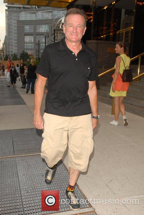 Robin Williams out and about in Midtown Manhattan...
