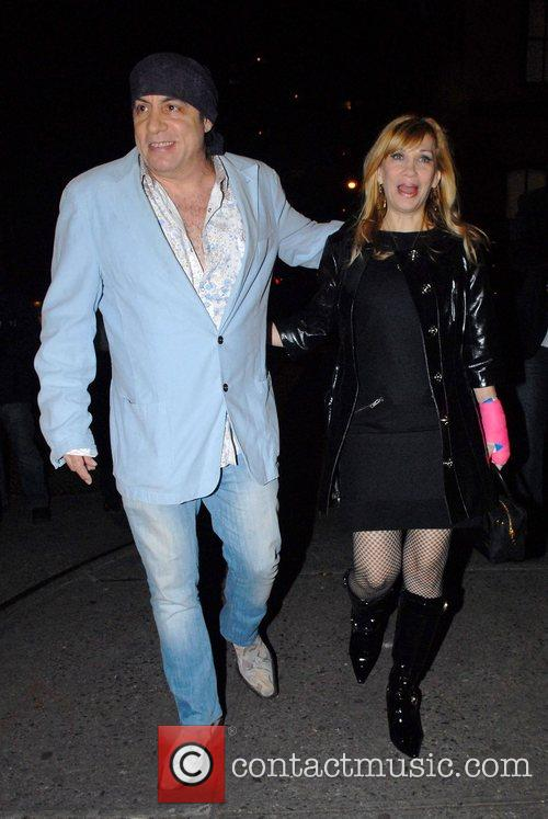 Steven Van Zandt, Maureen Van Zandt Out and About In Manhattan 1