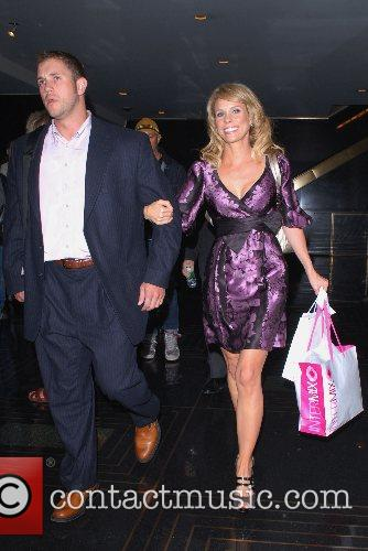 Cheryl Hines outside NBC Studios after an appearance...