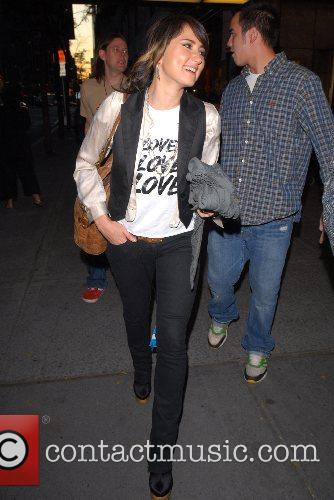Outside NBC Studios after an appearance on the...