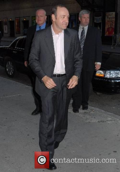 Kevin Spacey arrivesat the Ed Sullivan Theatre for...