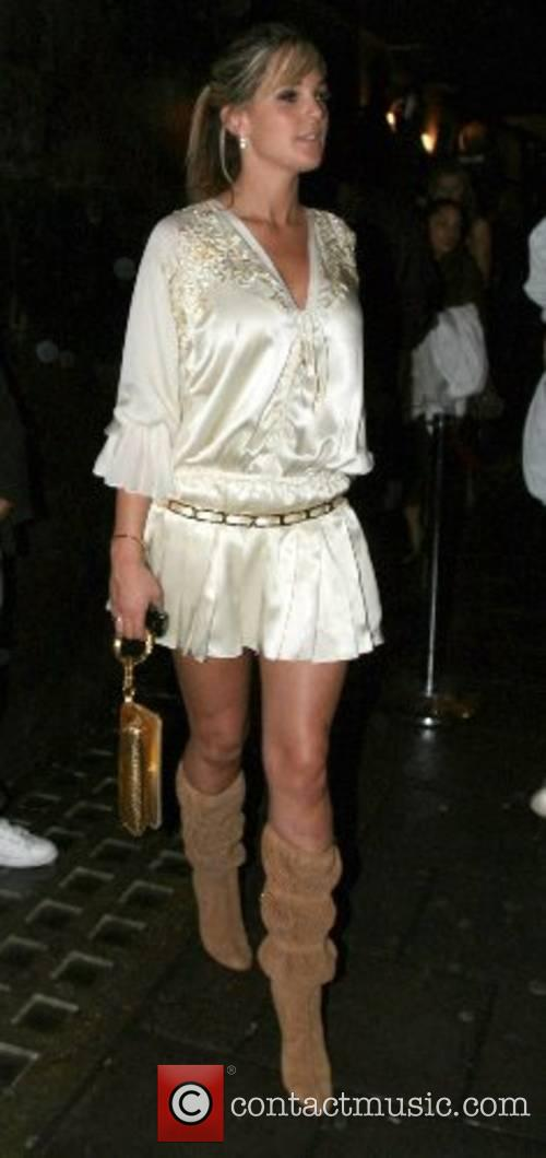 Danielle Lloyd leaves the Pangaea Nightclub London, England