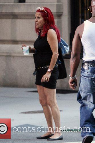 Patricia Field Celebrities visit the film set for...